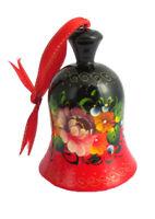 Cloche en bois peint  - Boule de Noel - Décoration de Noël