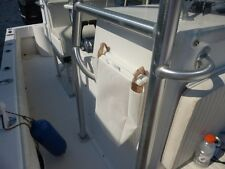 """Mesh Trash Bag for Boat or RV -- WHITE (Installs with 3M """"Snads"""" so no drilling)"""