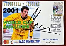 Socceroo Mark Viduka Signed FDC 2001 World Cup Qualifier Australia v Uruguay MCG