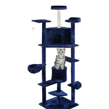 """Navy New 80"""" Cat Tree Condo Furniture Scratch Post Pet House"""