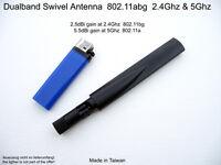 Dualband Antenne 802.11A/G/N/AC 2.5dbi/2.4ghz 5.5dbi/5ghz Wifi Wlan Omni RP-SMA