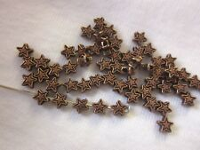 50 Antique Copper 4mm Star Spacer Beads #sp172 Combine Post-See Listing