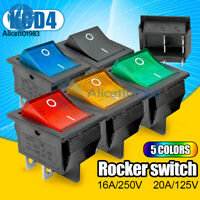 4/6PIN DPST/DPDT KCD4 16A/30A 250V Rocker Boat Switch Terminals ON/OFF 25*31MM