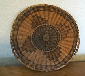 Vintage Native American Indian Hand Made Woven  Hopi Tray