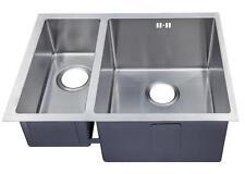 1.5 Handmade Bowl Satin Stainless Steel Undermount Kitchen Sink (DS029R)