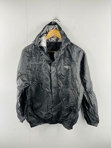 Umbro Men's Vintage Full Zip  Athletic Hooded Rain Spray Jacket Size S Black