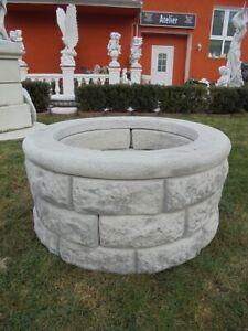 Ziehbrunnen, Brunnenring, Gartenbrunnen, Steinguss, 46 cm Hoch, Brunnenschacht