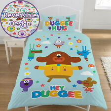 HEY DUGGEE HELLO SQUIRRELS SINGLE DUVET COVER SET KIDS REVERSIBLE BEDDING
