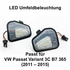 2x LED TOP SMD Umfeldbeleuchtung Weiß Passt für Passat Variant 3C B7 365 (7417)