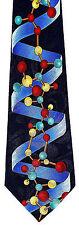 DNA Helix Mens Neck Tie Science Blue Necktie Molecular Biology Scientist New