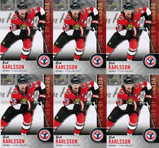 2018 UD NATIONAL HOCKEY CARD DAY ERIK KARLSSON CAN-6 PRIDE OF CANADA LOT (6)