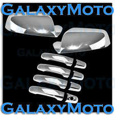 10-15 Chevy Equinox Triple Chrome Plated Mirror+4 Door Handle Cover Combo Set
