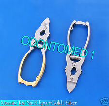 Mycotic Toe Nail Clipper Sliver + Gold Surgical Instruments