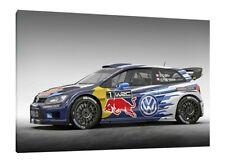 Sébastien Ogier VW Polo WRC - 30x20 pollici Tela Art Stampa Foto Incorniciata RALLY