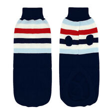 Soft Knitted Pet Dog Sweater Clothes POLO Neck Warm Doggie Jumper Knitwear Vest