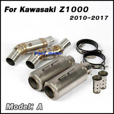 Motorcycle Full Exhaust System Middle Pipe Exhaust Pipe For Z1000 2010-2017