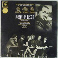 Bertold Brecht 33 tours Brecht on Brecht 1963