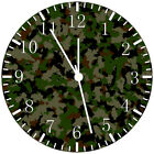 Military Camouflage Frameless Borderless Wall Clock Nice For Gifts or Decor Z78