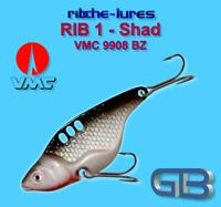 Cicaden, Shad, Kunstköder original RIBCHE LURES, VMC 9908 BZ 8g - 20g