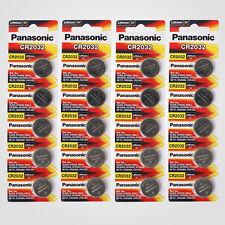 Panasonic CR2032 3V Lithium Battery 4PACK X (5PCS) = 20 Single Use Batteries