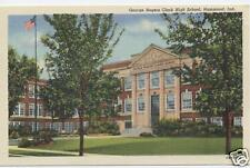 WHITING INDIANA GEORGE ROGERS CLARK HS POSTCARD