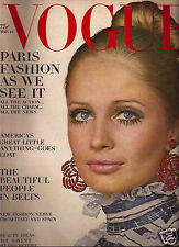Vogue March 1968  Spring Collections-Twiggy & Penelope Tree in Paris-Marisa Mell