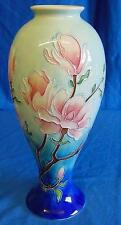 "OLD TUPTON WARE MAGNOLIA BLOOM PATTERN 11"" TALL TUBELINED PORCELAIN VASE 7927"