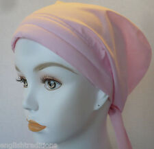 Padded Cancer Turbans Cotton Elastic Chemo Scarves Hats Pink Alopecia Headwrap