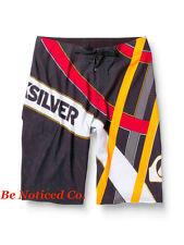 Quiksilver Uomo Bishop 53.3cm Pantaloncini da surf NERO ROSSO 30 nuoto Casual