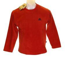 """Bnwt Authentic Boy's Adidas Fleece Jumper Sweatshirt 10-11yrs 28""""-30"""" New Red"""