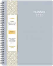 2022 Yearly Planner Weekly Amp Monthly 8x10 Flexible Cover Flexible Cover Gray