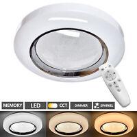 Lámpara De Techo LED Salón Dormitorio Cielo Estrellado Mando 48W Regulable