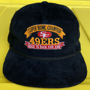 NWOT Vintage San Francisco 49ers Super Bowl Champs XXIII XXIV Hat Cap NFL AmaPro