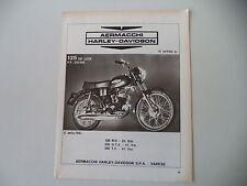 advertising Pubblicità 1972 MOTO AERMACCHI HARLEY DAVIDSON 125 DE LUXE