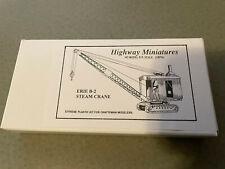 Jordan Highway Miniatures HO ERIE B-2 STEAM CRANE KIT 304 New in box