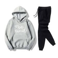 Damen Freizeit Trainingsanzug Langarm Hoodie Sweatshirt Sporthosen Set Hausanzug