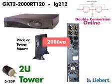 lg212 ~ Liebert GXT2 Online 2000va UPS 120v GXT2-2000RT120 Sine Wave #NewBatts