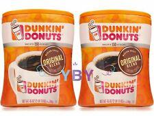2 Packs Dunkin' Donuts Original Blend Ground Coffee Medium Roast 45 OZ Each Pack