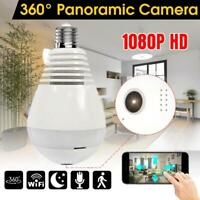 360° HD Wifi Bulb IP Hidden Camera Panoramic Home Security Spy CamNight Vision