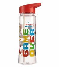 GAME OVER GAMING 500ML PLASTIC WATER SPORTS DRINKS LUNCH BOTTLE WITH STRAW