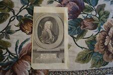 1753 Kupferstich / Michael Richey Dichter aus Hamburg Wittenberg Stade