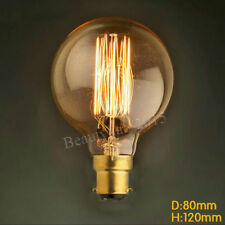 Vintage Filament Edison Bulb Dimmable B22 Bayonet Globe Light Lamp G80 60w/220v