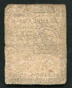 """CC-21 FEBRUARY 17, 1776 $1/2 ONE HALF DOLLAR """"FUGIO"""" CONTINENTAL CURRENCY NOTE"""