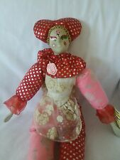 "Good Stuff 16"" Porcelain Painted Face Girl Clown Doll"