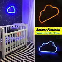 LED Neon Sign Night Light Cloud Wall Lamp Home Kids Bedroom Baby Room  YI