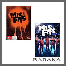 Misfits The complete Series Season 1, 2, 3, 4 & 5 DVD Box Set 13 Discs R4/Aus