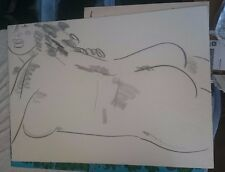 Frank Romero Nude Female Drawing study Listed Artist ORIGINAL!