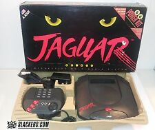 Atari JAGUAR Launch Ed BLACK Console (NTSC) Works!! BOX!! Tested!!