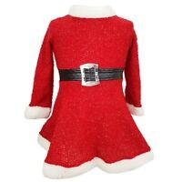 Girls Mini Miss Santa Claus Costume Kids Christmas Child Fancy Dress Outfit Xmas