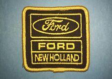 Rare Vintage Ford New Holland Tractors Farmer Hat Jacket Uniform Patch Crest A